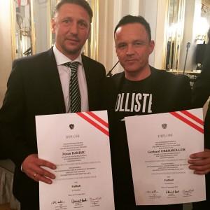 Rapid Coach Zoran Barisic und meine Wenigkeit